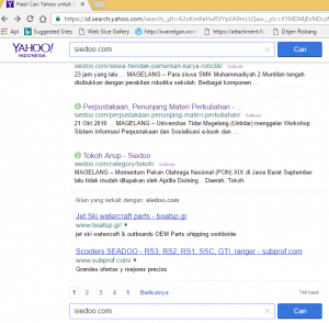 Hasil pencarian siedoo.com dengan yahoo search