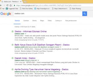 Pencarian dengan google.com berita