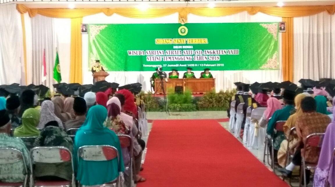 Ketua STAINU Temanggung Drs. H. Muh. Baehaqi, MM menegaskan bahwa dari 7000 lebih orang, hampir 100 persen, yaitu sekitar 98 lulusan STAINU Temanggung terserap di dunia kerja.