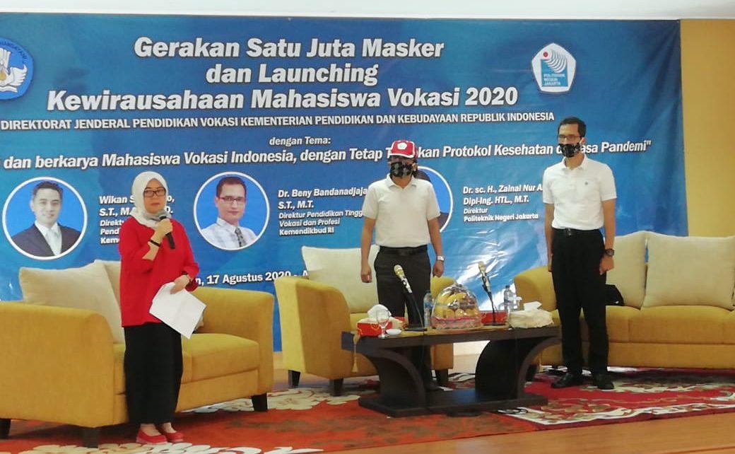 PROGRAM. Peluncuran program Kewirausahaan Mahasiswa Vokasi Tahun 2020 (foto: kemendikbud.go.id)