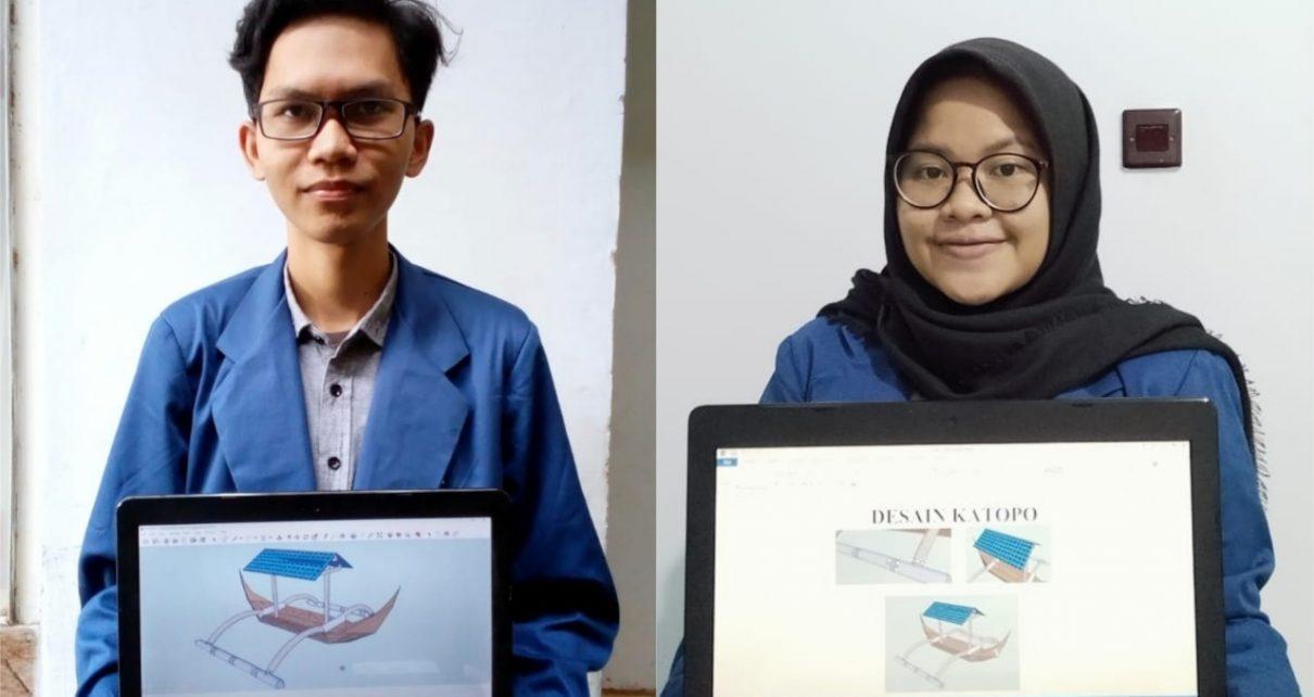 KATOPO. Muhammad Arif Billah dan Ayunda Iga Indraswari saat menunjukkan prototipe Katopo.