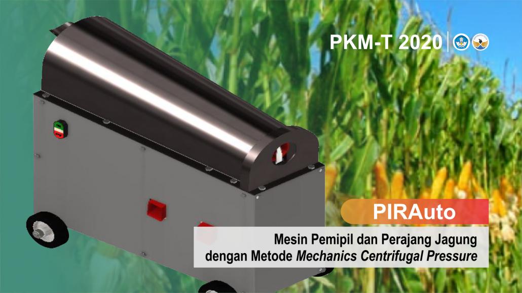 MESIN. PIRAuto sebuah Mesin Pemipil dan Perajang Jagung Otomatis dengan Metode Mechanics Centrifugal Pressure. (foto: ist)