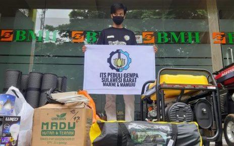 BANTUAN. Sejumlah barang bantuan dari ITS Tanggap Bencana dan BMH untuk korban bencana gempa bumi di Majene dan Mamuju, Sulawesi Barat. (foto: ist)