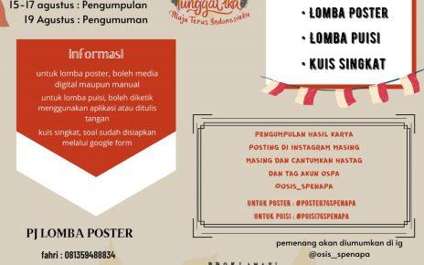 Poster Lomba Kemerdekaan SMPN 4 Magelang