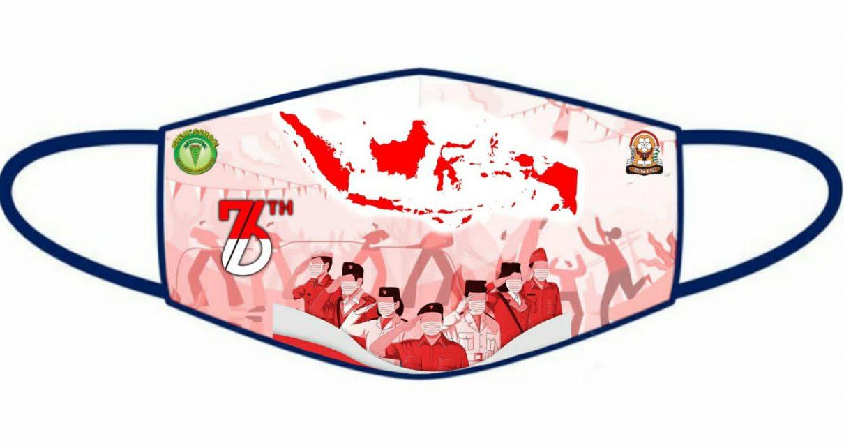 Salah satu desain masker siswa SMPN 1 Magelang